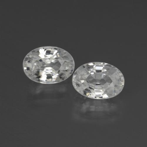 1.3ct Oval Facet White Zircon Gem (ID: 439898)