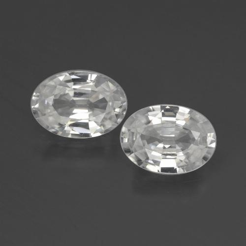 1.2ct Oval Facet White Zircon Gem (ID: 439928)