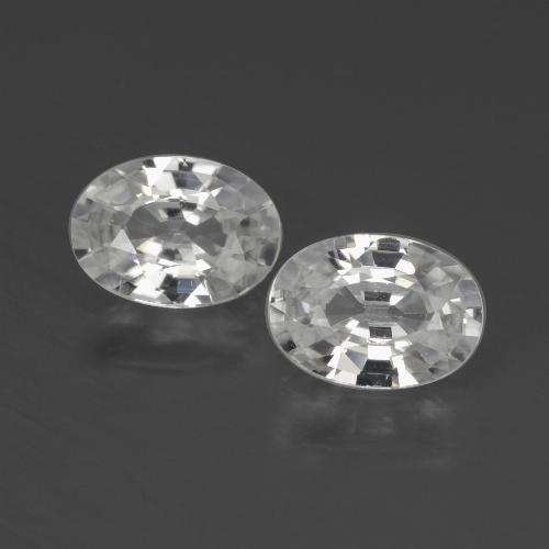 1.1ct Oval Facet White Zircon Gem (ID: 439930)