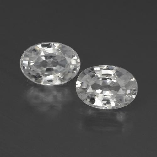 1.3ct Oval Facet White Zircon Gem (ID: 439931)
