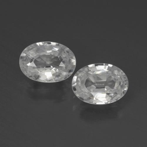 1.2ct Oval Facet White Zircon Gem (ID: 439987)