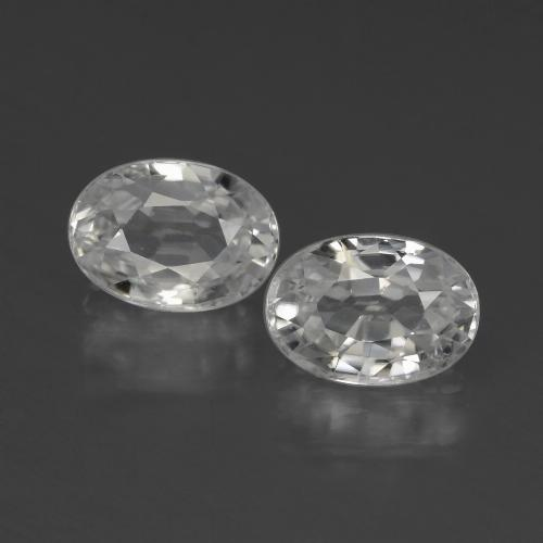 1.4ct Oval Facet White Zircon Gem (ID: 439990)