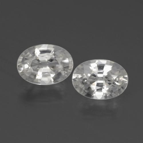 1.2ct Oval Facet White Zircon Gem (ID: 439992)