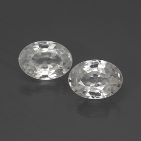 1.1ct Oval Facet White Zircon Gem (ID: 439995)