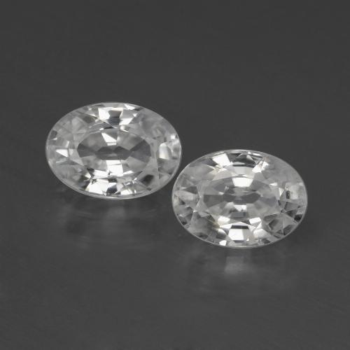 1.2ct Oval Facet White Zircon Gem (ID: 439996)