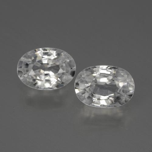 1.2ct Oval Facet White Zircon Gem (ID: 440034)