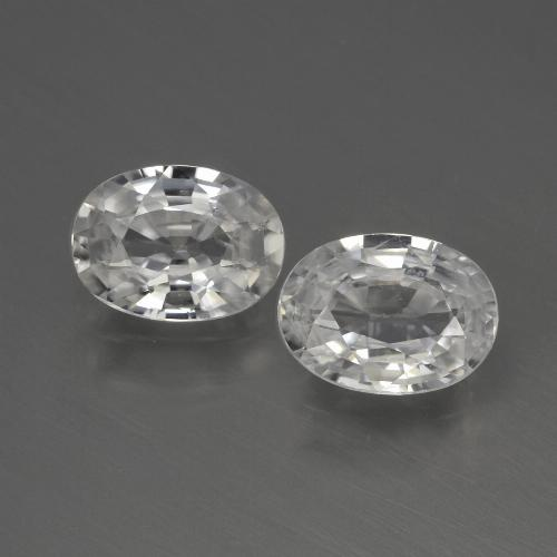 1.1ct Oval Facet White Zircon Gem (ID: 440036)