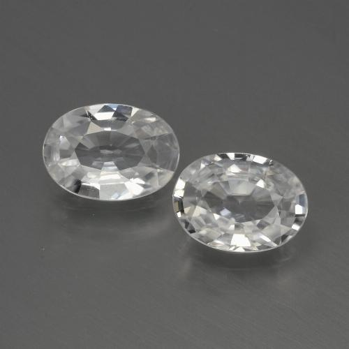 1.1ct Oval Facet White Zircon Gem (ID: 440037)