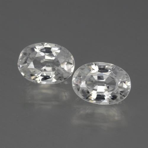1.3ct Oval Facet White Zircon Gem (ID: 440042)