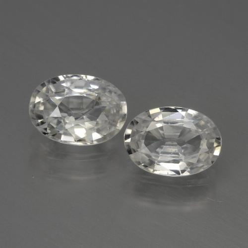 1.2ct Oval Facet White Zircon Gem (ID: 440043)