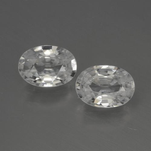 1.2ct Oval Facet White Zircon Gem (ID: 440044)