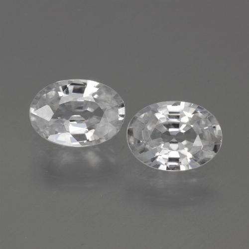 1.1ct Oval Facet White Zircon Gem (ID: 440085)