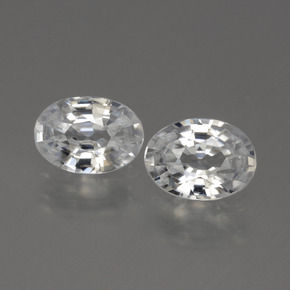 White Zircon Gem - 1.1ct Oval Facet (ID: 440086)