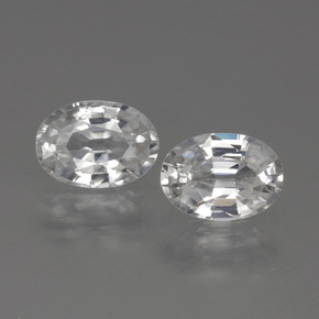 1.2ct Oval Facet White Zircon Gem (ID: 440089)