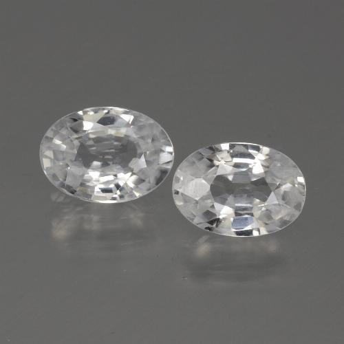 1.2ct Oval Facet White Zircon Gem (ID: 440091)