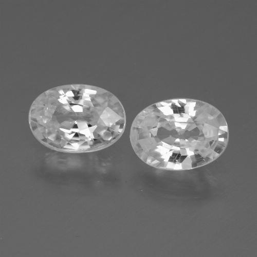 1.1ct Oval Facet White Zircon Gem (ID: 440092)