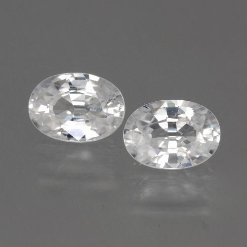 1.3ct Oval Facet White Zircon Gem (ID: 440131)