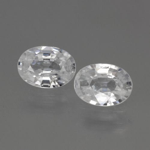 1.1ct Oval Facet White Zircon Gem (ID: 440132)