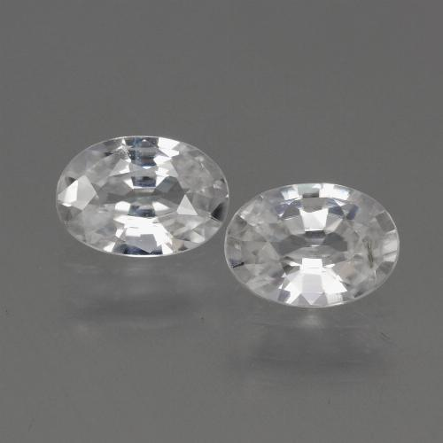 1.1ct Oval Facet White Zircon Gem (ID: 440133)