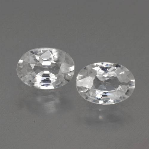 White Zircon Gem - 1.1ct Oval Facet (ID: 440136)