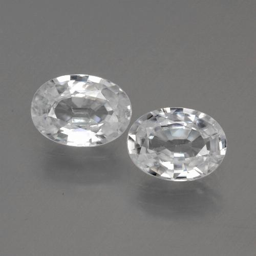 1.2ct Oval Facet White Zircon Gem (ID: 440138)