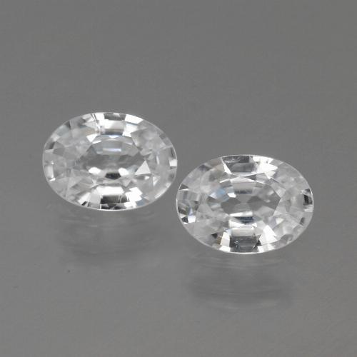 1.1ct Oval Facet White Zircon Gem (ID: 440140)
