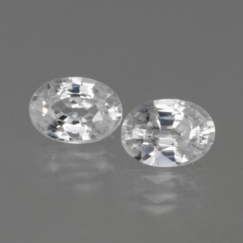 1.2ct Oval Facet White Zircon Gem (ID: 440141)
