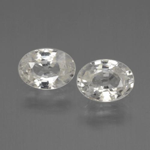 Warm White Zircon Gem - 1.1ct Oval Facet (ID: 440185)