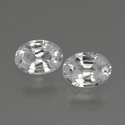 1.1ct Oval Facet White Zircon Gem (ID: 440189)