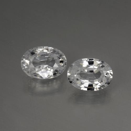 1.3ct Oval Facet White Zircon Gem (ID: 440227)