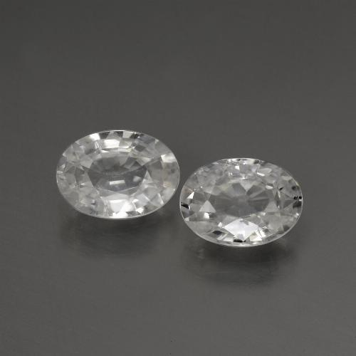 1.1ct Oval Facet White Zircon Gem (ID: 440235)
