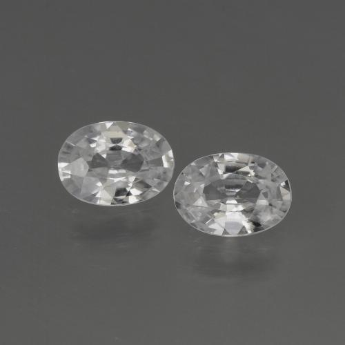 1ct Oval Facet White Zircon Gem (ID: 440237)