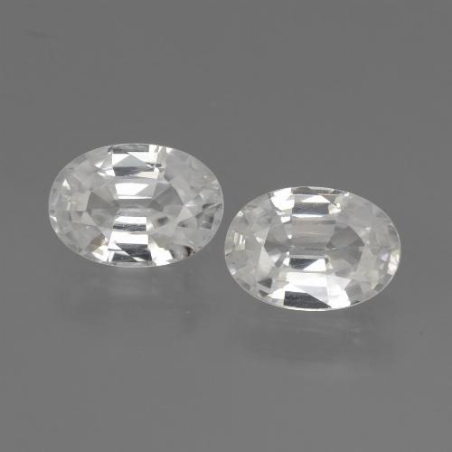 1.2ct Oval Facet White Zircon Gem (ID: 440275)
