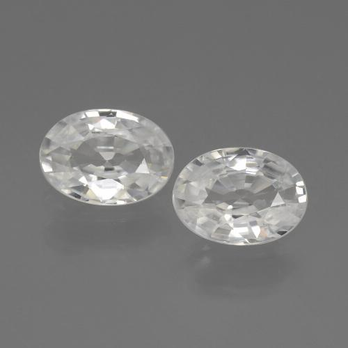 1.1ct Oval Facet White Zircon Gem (ID: 440277)