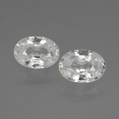 1.1ct Oval Facet White Zircon Gem (ID: 440281)
