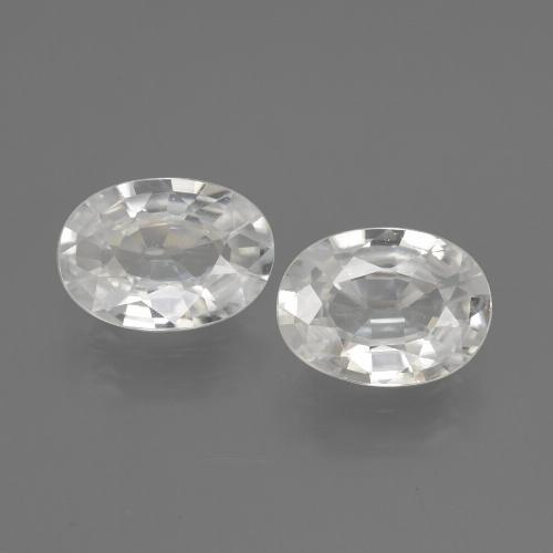 1.1ct Oval Facet White Zircon Gem (ID: 440282)