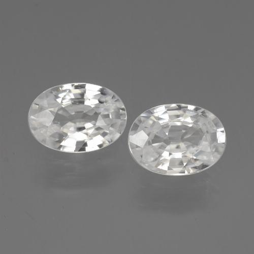 White Zircon Gem - 1.1ct Oval Facet (ID: 440284)