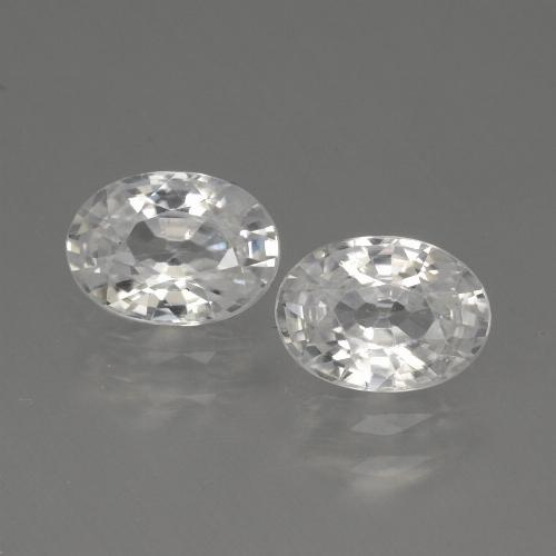 1.2ct Oval Facet White Zircon Gem (ID: 440323)
