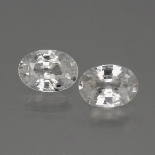 1.1ct Oval Facet White Zircon Gem (ID: 440324)
