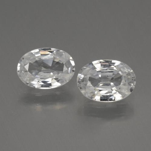 1.1ct Oval Facet White Zircon Gem (ID: 440326)