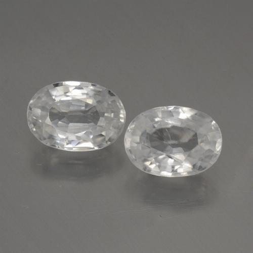 1.2ct Oval Facet White Zircon Gem (ID: 440330)