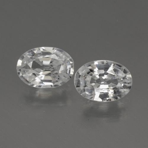 1.1ct Oval Facet White Zircon Gem (ID: 440332)
