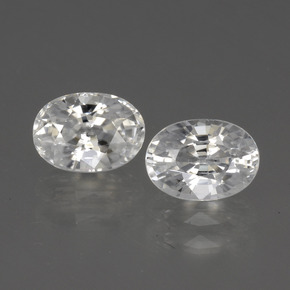 1.5ct Oval Facet White Zircon Gem (ID: 440333)