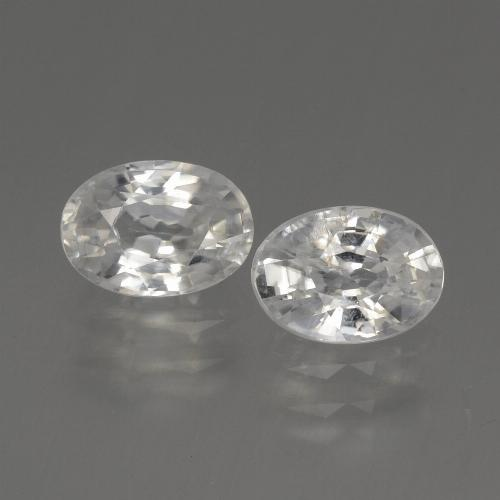 1.2ct Oval Facet White Zircon Gem (ID: 440383)