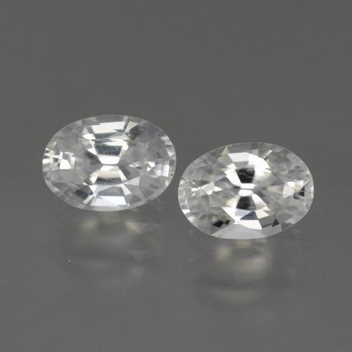 1.2ct Oval Facet White Zircon Gem (ID: 440454)