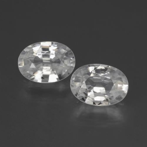 1.2ct Oval Facet White Zircon Gem (ID: 440523)