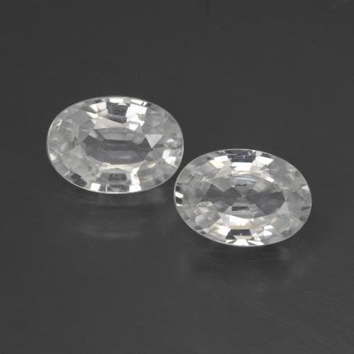 1.1ct Oval Facet White Zircon Gem (ID: 440524)