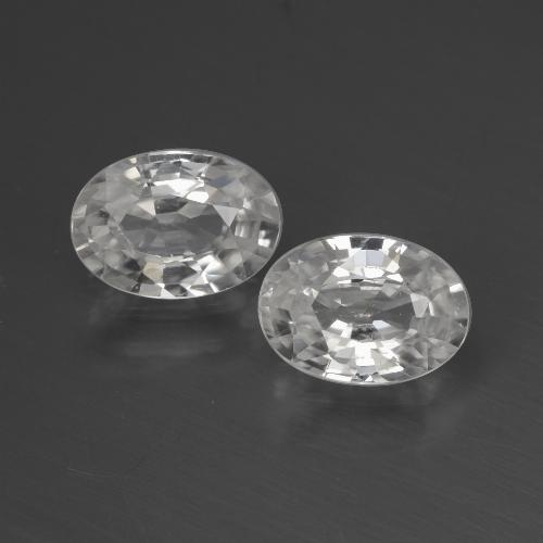 1.1ct Oval Facet White Zircon Gem (ID: 440528)