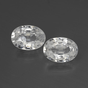 White Zircon Gem - 1.2ct Oval Facet (ID: 440530)