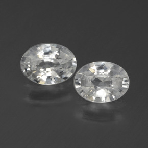 1.1ct Oval Facet White Zircon Gem (ID: 440592)